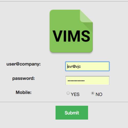 vims-home-screen